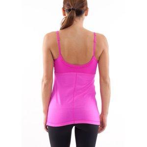 lululemon athletica Tops - Lululemon Hot 'N Sweaty Paris Pink Tank Top SZ 10
